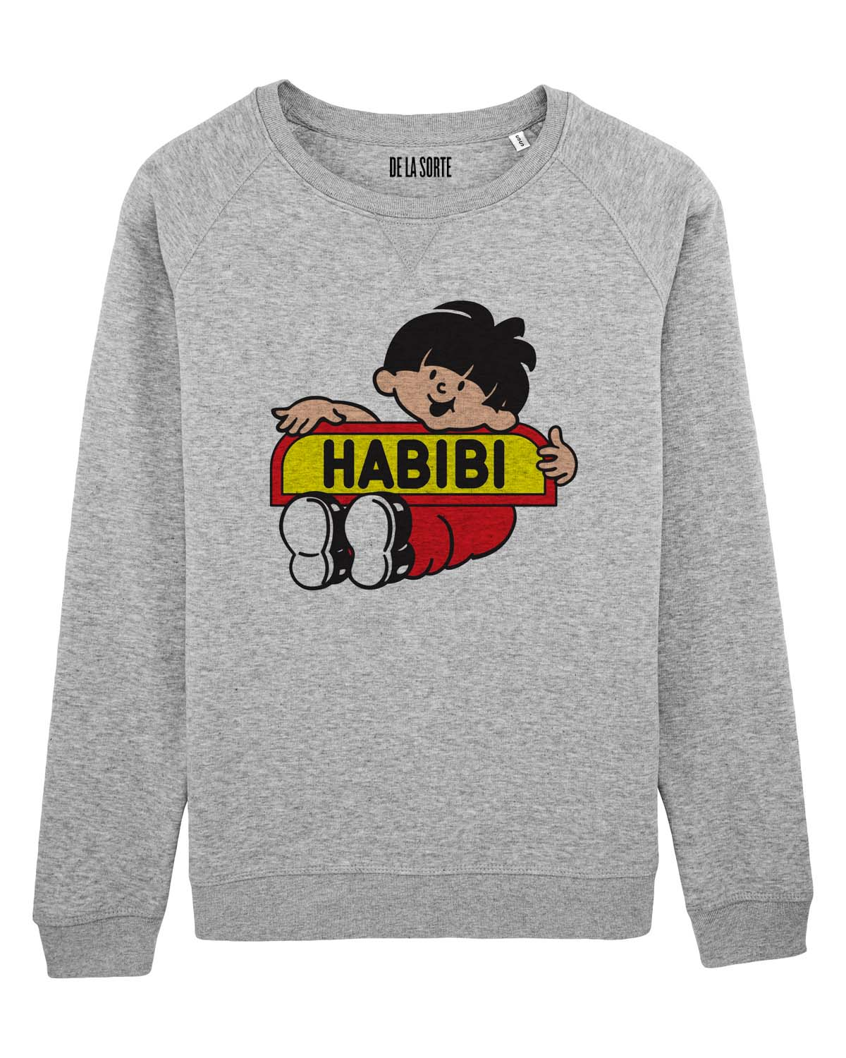 Habibi Sweat-shirt gris chiné De La Sorte